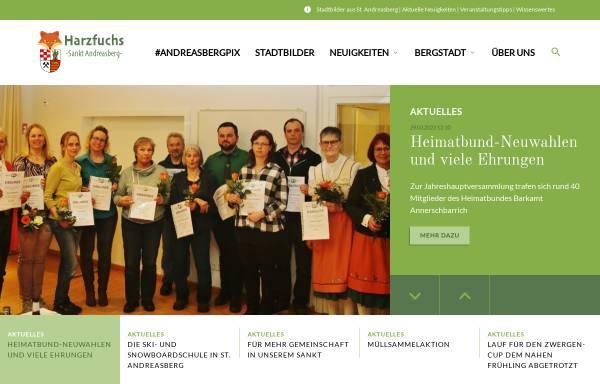 Vorschau von www.harzfuchs.de, Harzfuchs.de