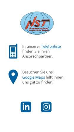 Vorschau der mobilen Webseite www.nst-int.de, NST International Spedition GmbH