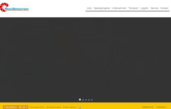 Vorschau von www.rein-spedition.de, Rein Spedition und Industrielogistik GmbH