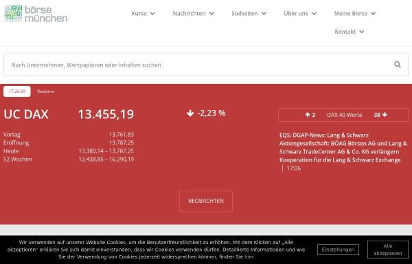 Vorschau von www.boerse-muenchen.de, Börse München