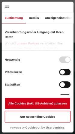 Vorschau der mobilen Webseite www.wienerborse.at, Wiener Börse AG