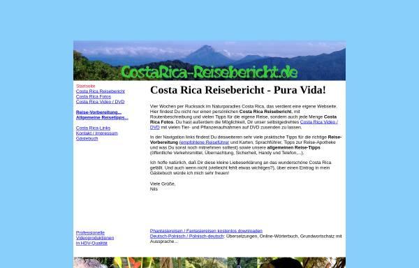 Vorschau von www.costarica-reisebericht.de, Pura Vida [Nils Klippstein]