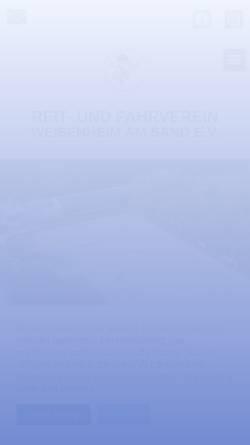 Vorschau der mobilen Webseite www.rfv-weisenheim.de, Reit- und Fahrverein Weisenheim