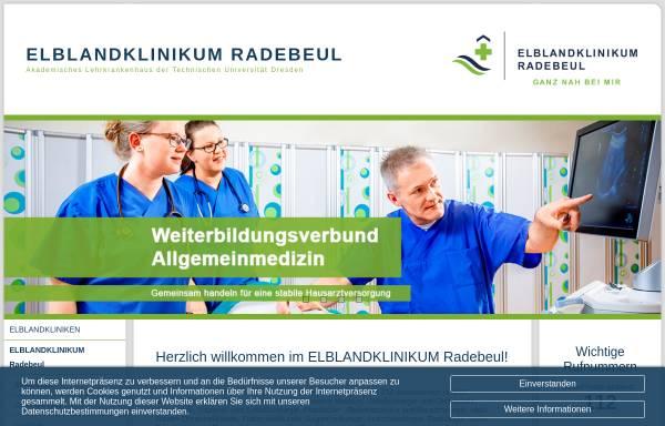 Vorschau von www.elblandkliniken.de, Elblandkliniken Meißen-Radebeul GmbH & Co.KG