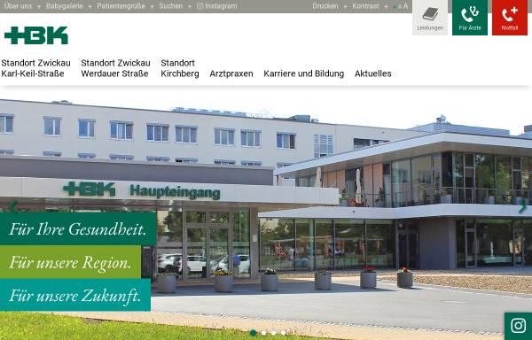 Vorschau von www.hbk-zwickau.de, Heinrich-Braun-Krankenhaus Zwickau