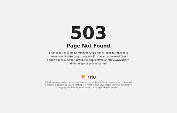 Vorschau von www.rhoen-klinikum-ag.com, Weißeritztal-Kliniken Freital und Dippoldiswalde