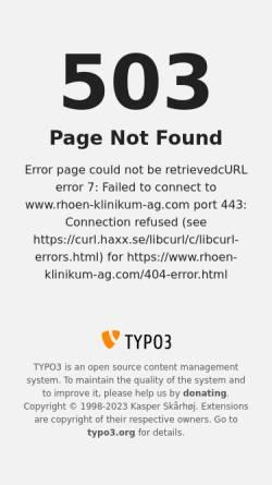 Vorschau der mobilen Webseite www.rhoen-klinikum-ag.com, Weißeritztal-Kliniken Freital und Dippoldiswalde