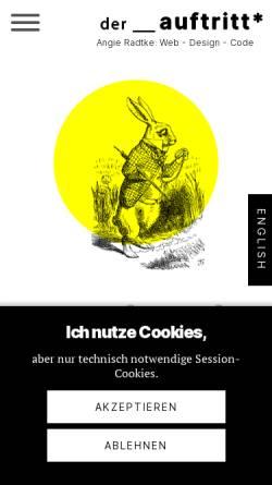 Vorschau der mobilen Webseite www.der-auftritt.de, Angie Radtke