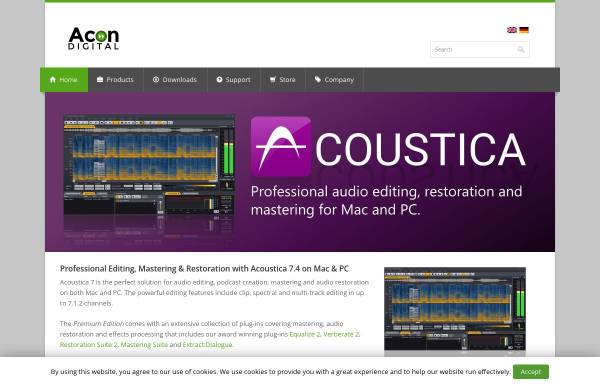 Vorschau von acondigital.com, Acon Digital Media