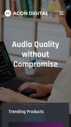 Vorschau der mobilen Webseite acondigital.com, Acon Digital Media