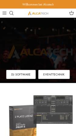 Vorschau der mobilen Webseite www.alcatech.de, Alcatech