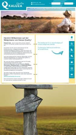 Vorschau der mobilen Webseite www.kaluza-quality.de, Kaluza Quality