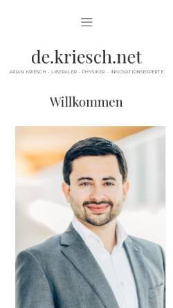 Vorschau der mobilen Webseite www.freiheitsfreund.de, Freiheitsfreund