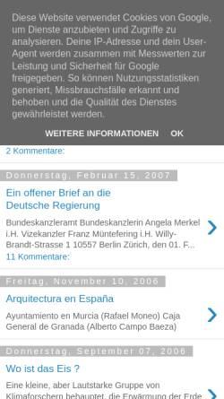 Vorschau der mobilen Webseite patrickharsch.blogspot.com, Harsch, Patrick