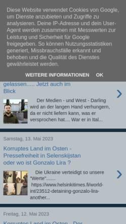 Vorschau der mobilen Webseite alles-schallundrauch.blogspot.com, Schall und Rauch