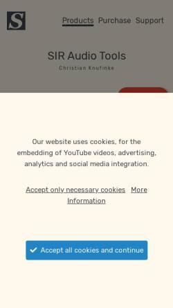Vorschau der mobilen Webseite www.knufinke.de, SIR - Super Impuls Reverb