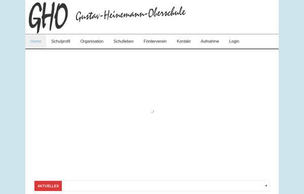 Vorschau von www.gho.berlin, Gustav-Heinemann-Oberschule