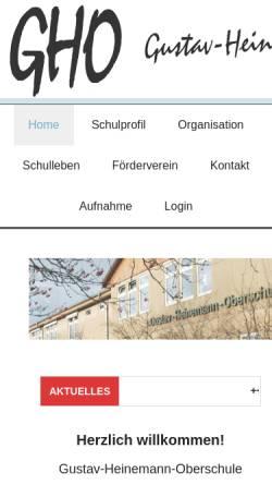 Vorschau der mobilen Webseite www.gho.berlin, Gustav-Heinemann-Oberschule