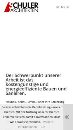 Vorschau der mobilen Webseite schuler-architekten.de, Schuler, Guido und Meinhard