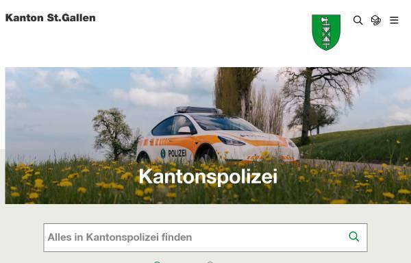 Vorschau von www.kaposg.ch, Kantonspolizei St.Gallen