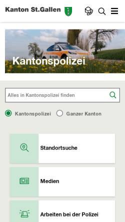 Vorschau der mobilen Webseite www.kaposg.ch, Kantonspolizei St.Gallen