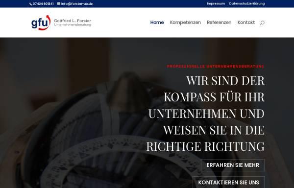 Vorschau von forster-ub.de, Gottfried L. Forster - Unternehmensberatung