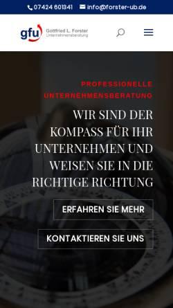 Vorschau der mobilen Webseite forster-ub.de, Gottfried L. Forster - Unternehmensberatung