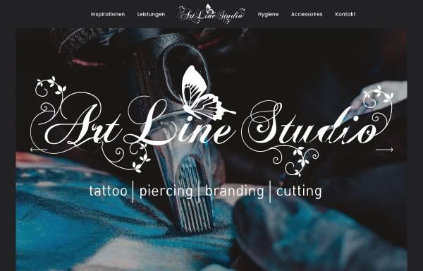 Vorschau von www.artline-tattoo.de, Artline Tattoo, Kotzbauer Christine