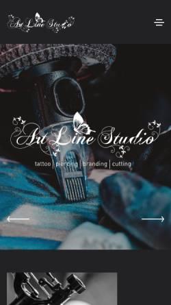 Vorschau der mobilen Webseite www.artline-tattoo.de, Artline Tattoo, Kotzbauer Christine
