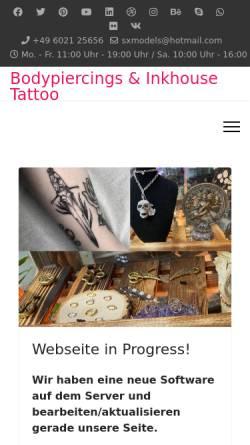 Vorschau der mobilen Webseite www.bodypiercings.de, Bodypiercings, Jörg Strohbach