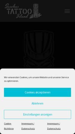 Vorschau der mobilen Webseite www.saschastattoo.de, Sascha's Tattoo, Sascha Schneider