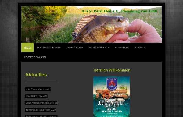 Vorschau von www.asv-flensburg.de, ASV Petri Heil e.V.
