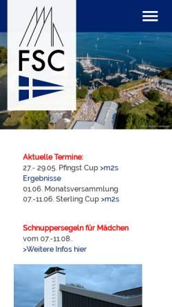Vorschau der mobilen Webseite www.fsc.de, Flensburger Segel-Club