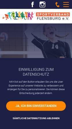 Vorschau der mobilen Webseite www.svfl.de, Sportverband Flensburg e. V.