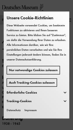 Vorschau der mobilen Webseite www.deutsches-museum.de, Geheimdokumente zum deutschen Atomprogramm 1938-1945