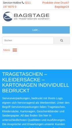 Vorschau der mobilen Webseite www.bagstage.de, Bagstage GmbH