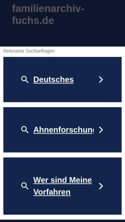 Vorschau der mobilen Webseite www.ahnensuche-thueringen.de, Ahnensuche Thüringen