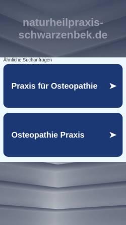 Vorschau der mobilen Webseite www.naturheilpraxis-schwarzenbek.de, Schawe, Silke