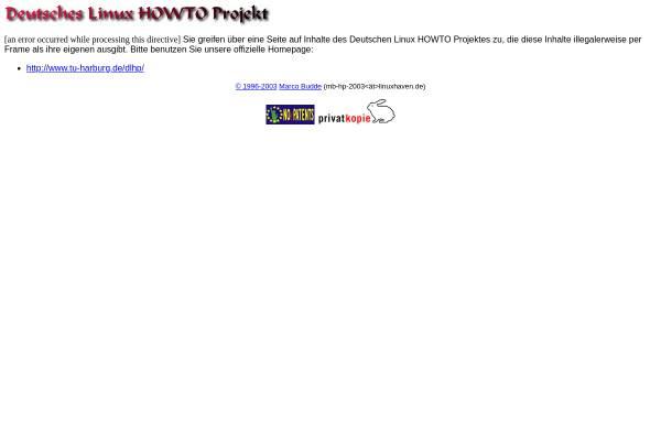 Vorschau von www.linuxhaven.de, Deutsches Linux HOWTO Projekt - DLHP