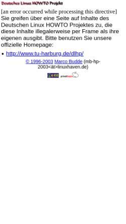 Vorschau der mobilen Webseite www.linuxhaven.de, Deutsches Linux HOWTO Projekt - DLHP
