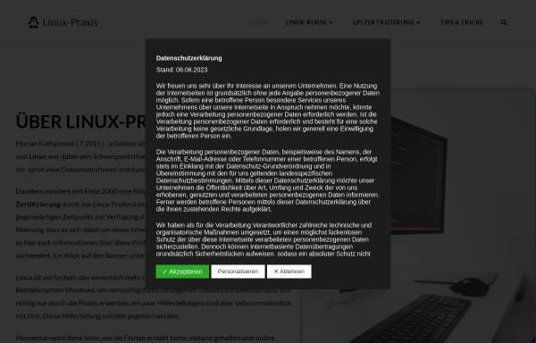 Vorschau von www.linux-praxis.de, Linux-Praxis.de