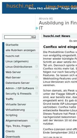 Vorschau der mobilen Webseite www.huschi.net, Huschi.net