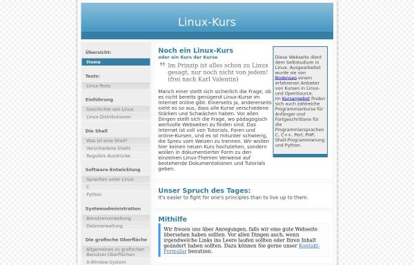 Vorschau von www.linux-kurs.eu, Linux-Kurs