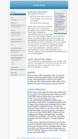 Vorschau der mobilen Webseite www.linux-kurs.eu, Linux-Kurs
