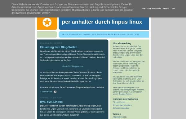 Vorschau von linpus-starter.blogspot.com, Per Anhalter durch Linpus Linux