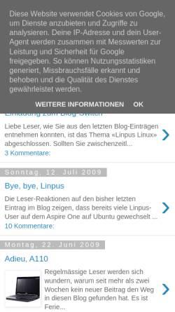 Vorschau der mobilen Webseite linpus-starter.blogspot.com, Per Anhalter durch Linpus Linux