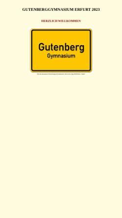Vorschau der mobilen Webseite www.gutenberggymnasium.de, Gutenberg-Gymnasium