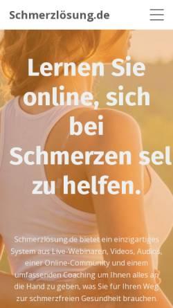 Vorschau der mobilen Webseite www.schmerzloesung.de, Schmerzlösung UG