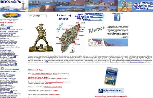 Vorschau von www.rhodos-welten.de, Mach einfach mal Urlaub auf Rhodos [Reinhold Pohl]