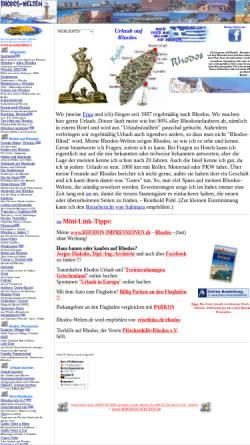 Vorschau der mobilen Webseite www.rhodos-welten.de, Mach einfach mal Urlaub auf Rhodos [Reinhold Pohl]